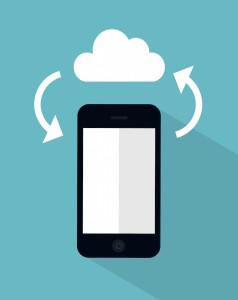 vector cloud sync concept illustration